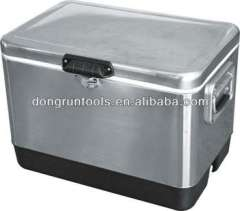 stainless steel drink fish cooler box cooler cart Beverage cooler box ice cooler (HX1104B)