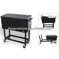 detachable cooler cart, barbecue rolling cooler box, cooler cart, beer cooler trolley