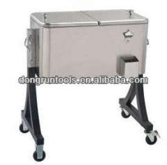 outdoor stainless steel rolling cooler cart 60qt (DR1213)