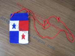 Panama flag pattern cotton knit cell phone sets
