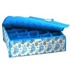 Soft blue flowers cover 20 grid storage box