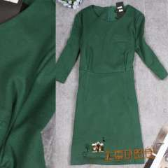 Europe and the United States temperament, ms tong le new winter 7 minutes of sleeve dress, ultra thin, women's dresses