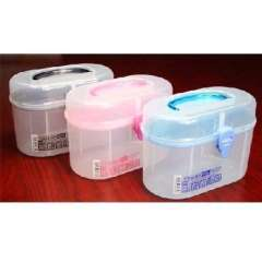 Japan imported multi-functional double- storage box ( 6137 ) Random Color