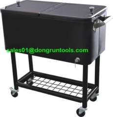 outdoor party stainless steel rolling beverage stainless steel cooler cart for BBQ (HX1104B)