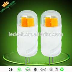 Clear cover ceramics materials 1w 2w 12v g4 led light for crystal lamp