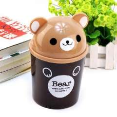 Brown Bear Desktop Storage bucket lid ( 0776 )