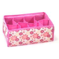 Pink flowers 8 grid no cover storage box