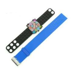 Square unisex PVC transparent electronic watches | Strap can be replaced | Indigo