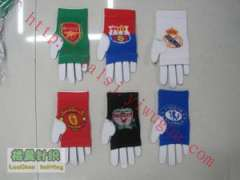 World famous football club LOGO logo design jacquard knit nursing palm | personality gloves | Fashion cool mitts | Sports gloves