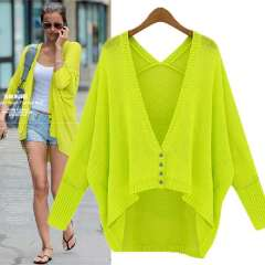 2013 autumn new arrival women's batwing sleeve sweater female cardigan thin outerwear sun protection clothing
