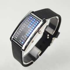29 LED blue silicone electronic watches | Black