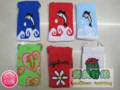 Dolphins | strawberry | little girl | flowers | leopard | pattern phone package | phone sets | Mobile phone bag