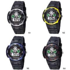 St. hundred cattle | Fashion hit color LED indicator dual display diving sports watch | Authentic