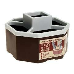 Japan imported brown anise five grid storage box ( 011822 )