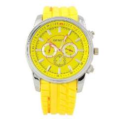 Disc quartz watch | belt watch | Unisex | Yellow