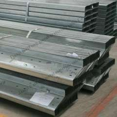 Q195 hot rolled galvanized c and z purlins made in China