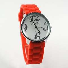 Red AIMEI silicone jelly quartz foreign trade watches | unisex