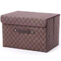 Brown classic plaid storage box