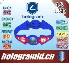 2012 Environmental silicone bracelets in Hologram paypal-available eco-friendly and harmless