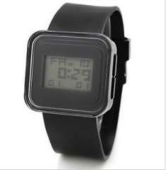 Fashion Square jelly electronic watches | Black