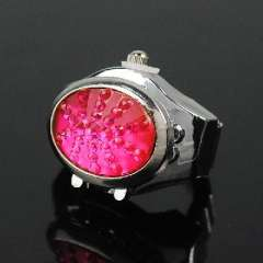 Rose Red tremolite oval gemstone | Ring Watches