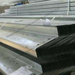 Q235 hot rolled galvanized z purlin dimensions