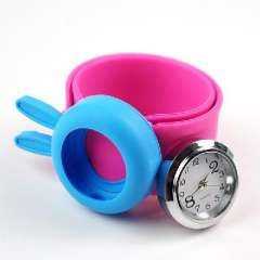 Students watch Silicone quartz ring pops | Blue | flat roll freely replaceable strap