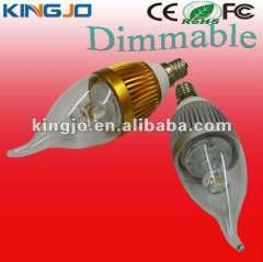 AC85-265V e14\e12 dimmable led bulb candle with CE, ROHS, FCC certificates