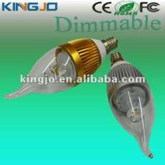 AC85-265V e14\e12 base dimmable led candle bulb with CE, ROHS, FCC certificates