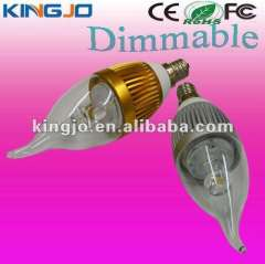 AC85-265V E12\E14 dimmable led candle lamp with CE, ROHS, FCC certificates