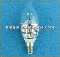 Dimmable E27 3W LED candle light 38*108mm CE\ROHS\FCC