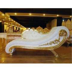 Cheap modern European neo-classical fabric sofa | Wood carved double chaise living room sofa | lazy lounger