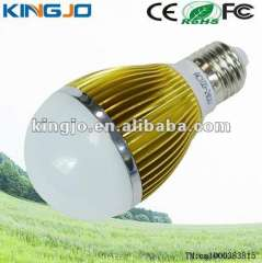 Golden heat sink E27 5W led bulb