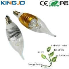 3W E14 Dimmable LED Candle Bulb Bridgelux Chip