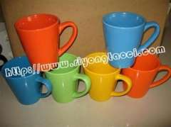 Shandong Zibo serves creative ceramic mug | color couple cups | custom holiday love lover Cup