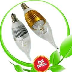 Dimmable and Non-dimmable 3W E12 E14 LED Candle Bulb