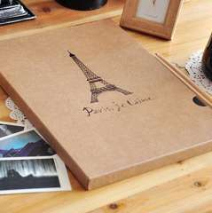The appendtiff vintage eiffel tower eco-friendly a4 cowhide large photo album this collection book of paste type corner posts