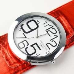 The new belt quartz watches trade | neutral table | disk | Queen | unisex | Red