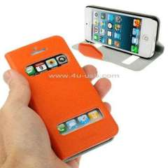 Smart Caller ID Leather Case for iphone 5