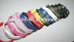 2012 Old-version Elegant-style Powercore silicone energy bracelets in hologram 100%silicone eco-friendly and harmless