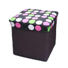 Fashion pattern leather waterproof square stool | Color Random