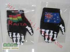 RASTA Jamaica reggae red yellow and green tricolor protect palm | Jordan, the United States, Australia flag pattern mitts EUSKADI personality gloves