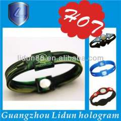 paypal 2012 newest anion silicone jewelry bracelet