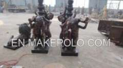 casting bronze children sculpture