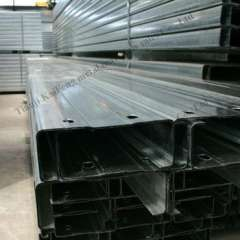 Q235 galvanized steel c purlin span