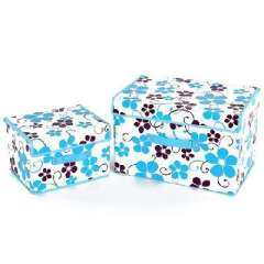 Language of Flowers Colorful film piece waterproof storage box - blue