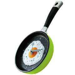Le pot when the patent genuine creative | personalized wall clock omelette pan | pans clock | Youth Green
