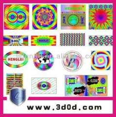 Anti-counterfeiting holographic stickers