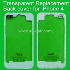Transparent Glass Back cover for iPhone 4