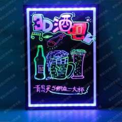 WG70 50 LED fluorescent plate | Colorful highlighted screen | Cable color tablet | Guestbook